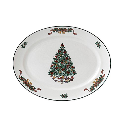Johnson Brothers Victorian Christmas Oval Platter, 13.75-Inch, Multicolored by Johnson Brothers