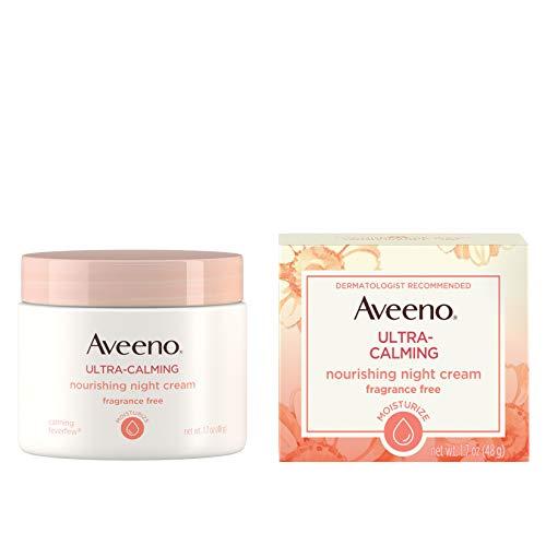 Aveeno Ultra-Calming Nourishing Night Cream, Fragrance Free, 1.7 Ounce (Best Drugstore Moisturizer With Spf 30)