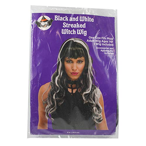Connie N Randy Black and White Streaked Witch Wig ()