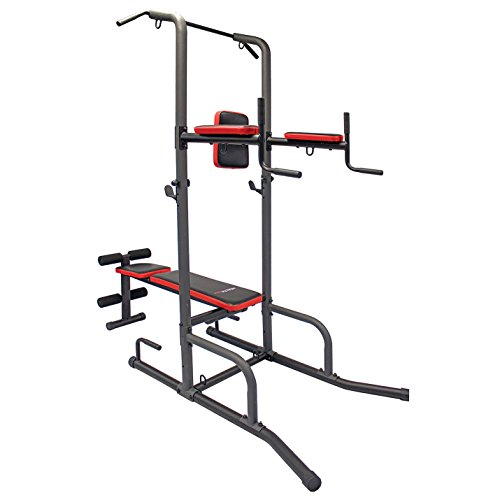 Health Gear CFT2.0 Functional Fitness Gym Style Training Power Tower & Adjustable Workout Bench System for Pull Ups and Dips