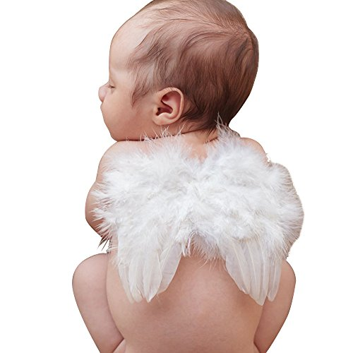 Little Mouse Baby Angel Feather Butterfly Wings Photo Prop Girls Hair Accessories (white wing)
