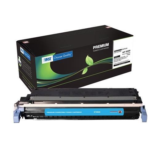 MSE Toner C9731A for Hewlett Packard HP Color LaserJet 5500,5550 Series - 12,000 Yield - Cyan - with Chip