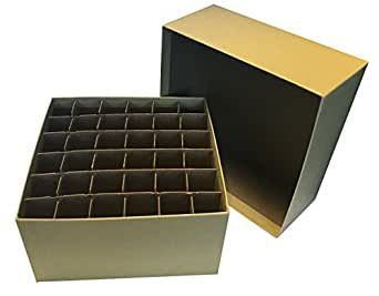 cardboard storage box with lid and cell divider 36 x 15 ml tube capacity. Black Bedroom Furniture Sets. Home Design Ideas