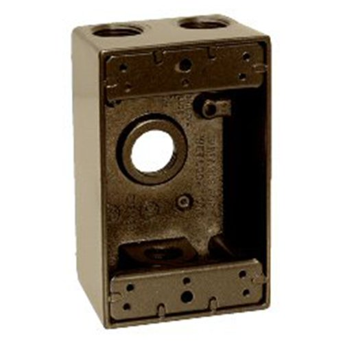 Sigma Electric 14251BR 1/2-Inch 4 Hole 1-Gang Box, (1g Gang Weatherproof Box)