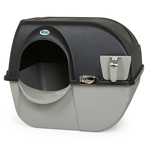 Omega Paw Elite Self Cleaning Roll 'n Clean Litter Box - Midnight Black - Large