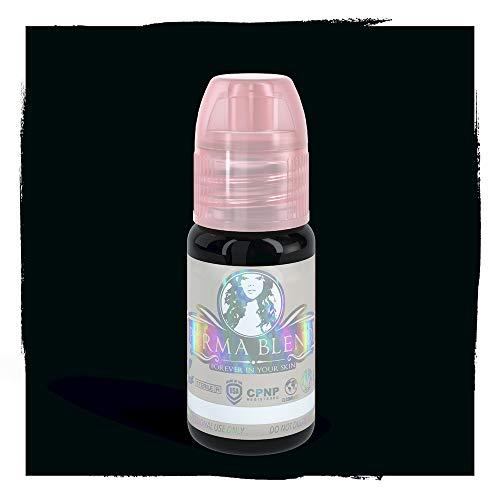 Double Blend - Perma Blend Permanent Makeup Microblading Micropigmentation Pigment Professional Permablend (Double Black)