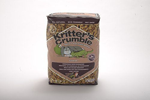 41KdM T%2BxZL - Kritter's Crumble All Natural Coconut Husk Fiber Reptile Substrate and Small Animal Bedding - Coarse, 21 quarts