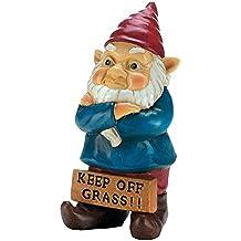 Gnomes Christmas, Keep Off Grass Garden Lawn Grumpy Gnome Door, Polyresin