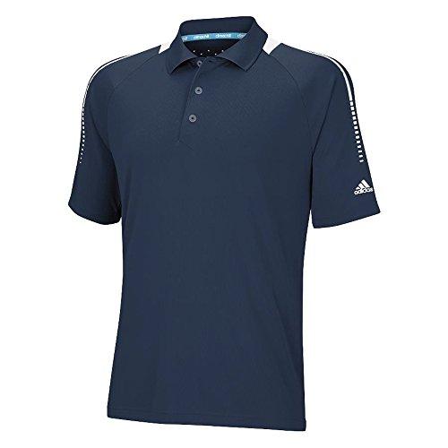 adidas Golf Men's ClimaChill Stripe Shoulder Print Polo Shirt