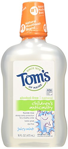 - Tom's of Maine - Children's Natural Fluoride Rinse Anticavity Alcohol-Free Juicy Mint - 16 oz.