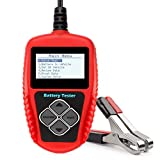 AutoKraze BA101 Automotive Battery Load Tester 12V 100-2000 CCA Bad Cell Test Analyzer Tool Directly Test Car, Boat, and Motorcycle Battery Status Portable, Digital and Rechargeable Battery Tester