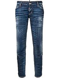 Dsquared2 Women S S72lb0194s30342470 Blue Cotton Jeans
