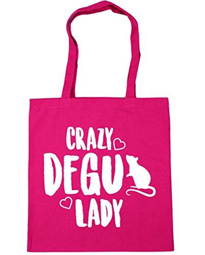 10 Shopping litres Crazy Beach lady Bag HippoWarehouse Fuchsia degu Gym 42cm Tote x38cm faAqBnU