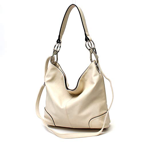Janin Handbag Bucket Style Hobo Shoulder Bag with Big Snap Hook Hardware Tall Size