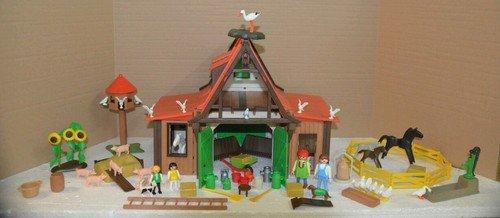 Playmobil 3716 Alter Bauernhof Mit Viel Zubehör Amazonde Spielzeug