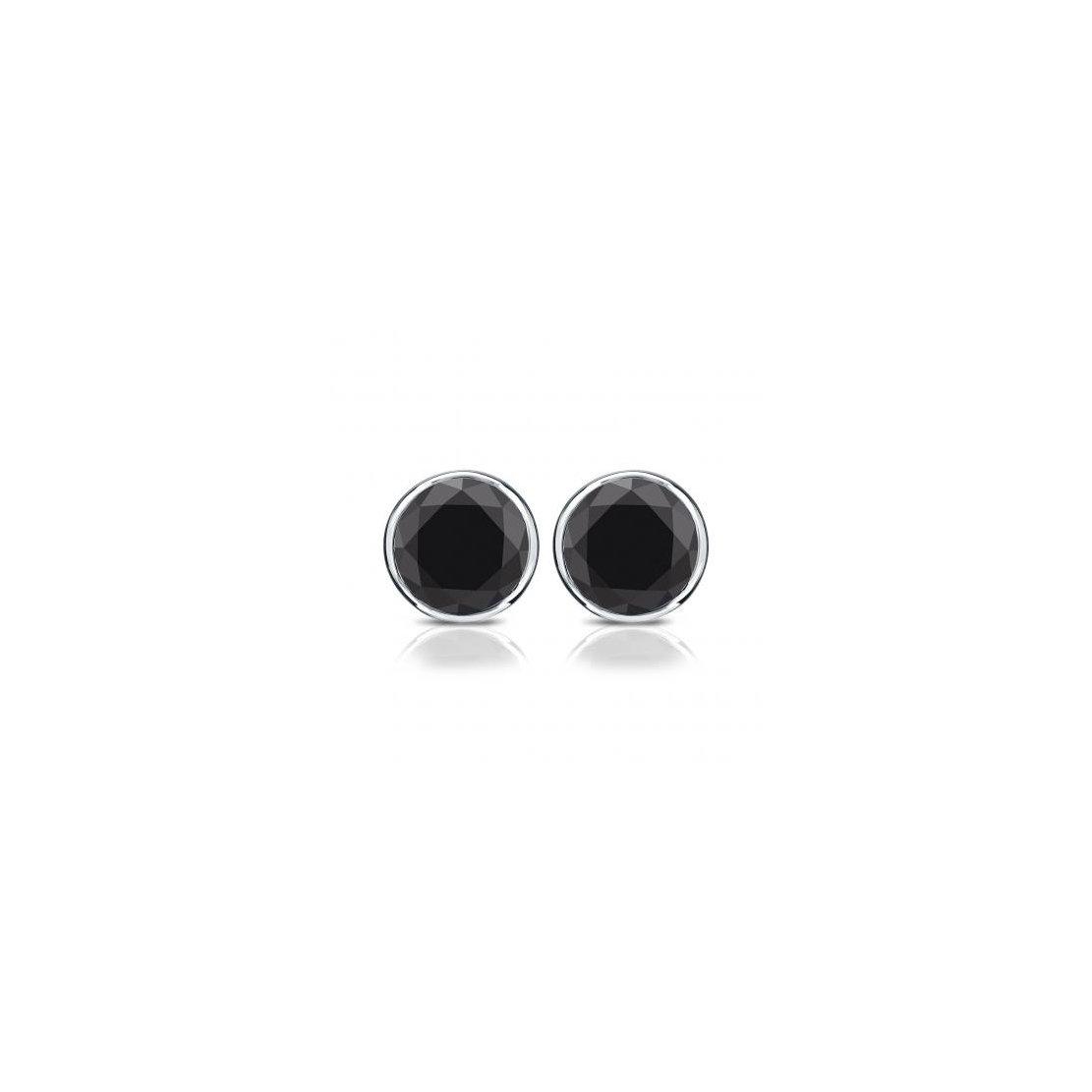 Crystal Inverness Piercing Bezel Earrings (Black)
