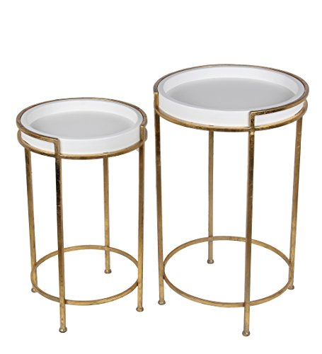 Buy privilege 18969 2 piece accent stands gold leaf