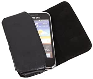 Cerhinu iTALKonline Samsung i8150 Galaxy W PU Leather BLACK Executive Side Wallet Pouch Case Cover with Belt Loop