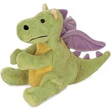 goDog Dragon With Chew Guard Technology Tough Plush Dog Toy, Lime, Large