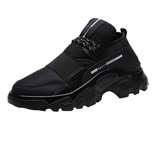 Respctful ✿ Men's Fashion Sneakers Running Shoes Breathable Lightweight Athletic Tennis Sport Shoe for Men Black from Respctful_shoes
