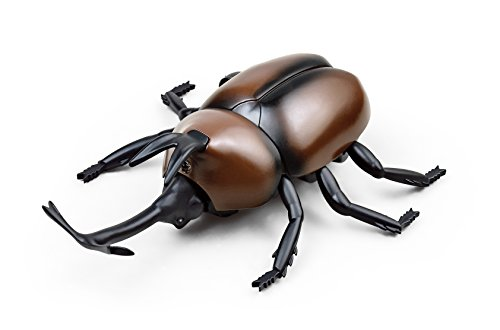 RC Beetle BROWN | Remote Control Animal | Robotic Scarab | Rhino Beetle | Antler Beetle | Infrared Remote Control RC Insect by Unitech (Ladybug Robot)