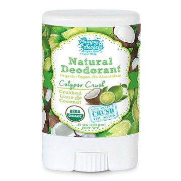 Calypso Crush Organic Deodorant Traveller .35oz - Crush the Stink Naturally with Shea Butter, Coconut Oil – Best for Men & Women:Sensitive Skin Body Odor Treatment – Cruelty Free, Vegan, Aluminum