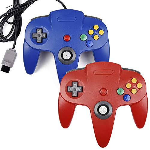 2xClassic N64 Controller,kiwitata Retro Wired Gamepad, used for sale  Delivered anywhere in USA