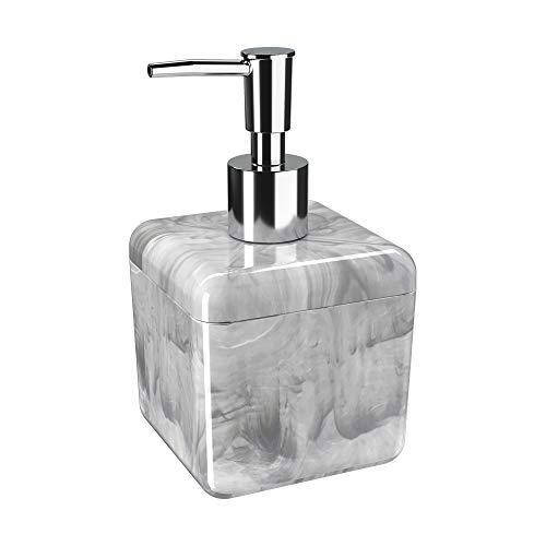 Porta Sabonete Liquido 330ml Cube M Coza Mármore Branco