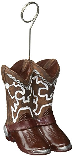 Cowboy Boots Photo/Balloon Holder Party Accessory (1 (Cowboy Boot Decoration)