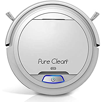 PUCRC25 Automatic Robot Vacuum Cleaner - Lithium Battery 90 Min Run Time - Robotic Auto Home Cleaning for Clean Carpet and Hardwood Floor Dry Mopping - Pet Hair Allergies Friendly - Pure Clean
