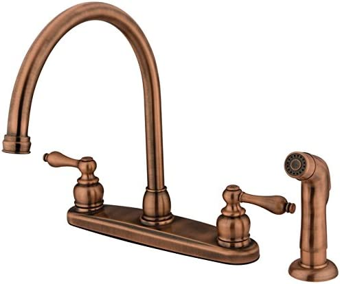KINGSTON BRASS KB726ALSP Kitchen Faucet, Antique Copper