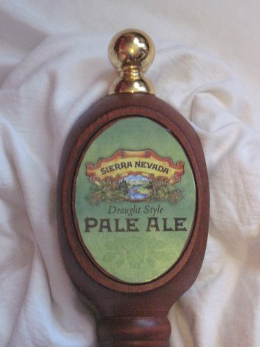 Sierra Nevada Pale Ale Beer Pub Style Tap Handle 13'' Long Beautiful Carved Wood and Nicely Decorated with Brass at the Top & Bottom & Three Sided by Sierra Nevada (Image #1)