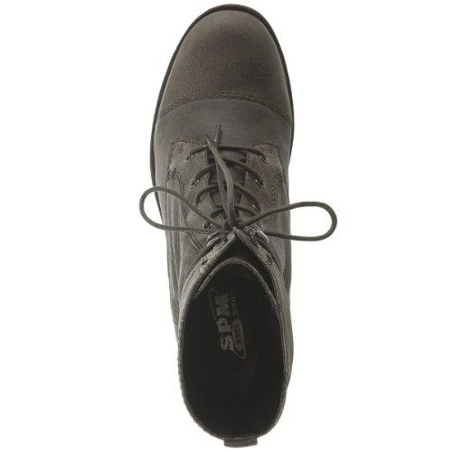 SPM Chaussures Bottes Saragosse–Bottes à lacets Femme–Gris foncé
