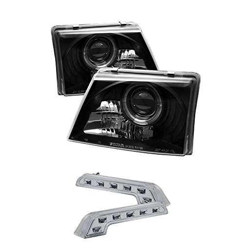 1998-2000 FORD RANGER HALO PROJECTOR HEADLIGHTS HEAD LIGHTS + 8 LED BUMPER LAMPS