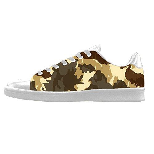 Zapatos De Lona Para Hombre De Camuflaje Personalizados Los Cordones De Zapatos De Lona Por Encima De Las Zapatillas De Deporte.