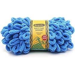 Lion Brand Yarn 3004-109 Crayola Off The Hook Yarn, Cornflower (1 skein/ball)