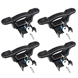 4PCS F150 Boxlink Tie Down Anchors for F250 F350 Raptor 2015-2020, CarQiWireless Bed Tie Downs Stainless Steel Lock Box Buckle Anti-Theft 1000 Lbs for Raptor F350 F250 F150 Accessory - with 4 Keys