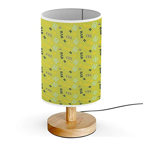 Barcelona Table Lamp - ARTSYLAMP - Wood Base Decoration Desk Table Bedside Light Lamp [ Barcelona Creative Digital Design ]