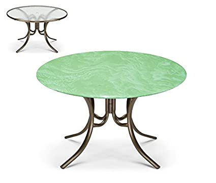 207 & Bistro Round Fitted Tablecover for Glass Tables up to 35\