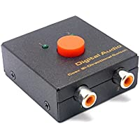 Sienoc Digital Optical Coaxial Coax S/PDIF TOSLINK Audio Converter SPDIF Coaxial to Toslink (Coax bi-directional switch)