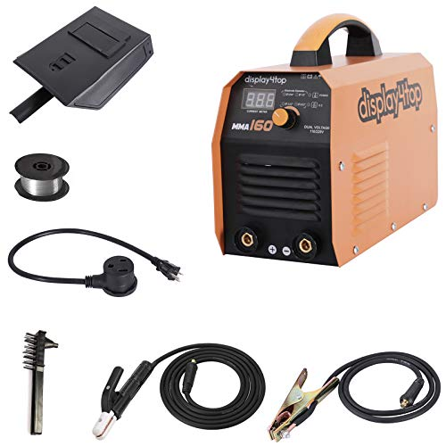 Display4top MMA-160,160 Amp Stick ARC IGBT Digital Inverter DC Welder,Digital Display 110V/220V Dual Voltage Input Welding Machine