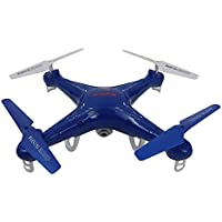 Syma X5C Quadcopter Drone with HD Camera and extra battery in exclusive Blue design