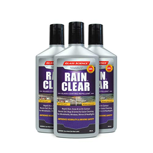 Rain Clear Windshield Water Repellent Gel 3 pack from Glass