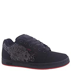 This Etnies x Metal Mulisha Men's Barge XL Low Top Sneaker Shoes Black/White/Red 10 by Etnies features Barge LS with maximum cushion in the tongue and collar lining. The upper is made with a combination of suede and action leather textiles wi...