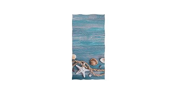 Linomo Hand Towel Sea Animal Mermaid Towel Cotton Face Towel Dish Towel for Kids Girls Boys Adult