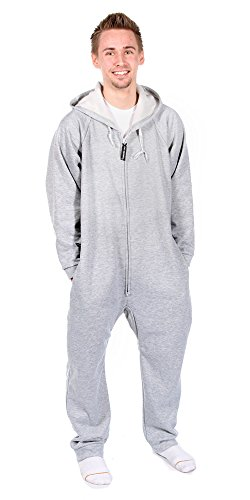 Forever Adult Sweatshirt (Forever Lazy Heavyweight Adult Onesie - Drift Away Gray - XL)