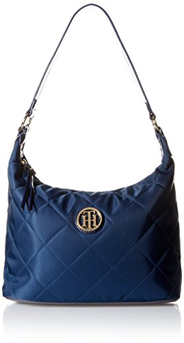Tommy Hilfiger Quilted Hobo Bag, Navy, One Size (Hobo Tommy Hilfiger Bags)