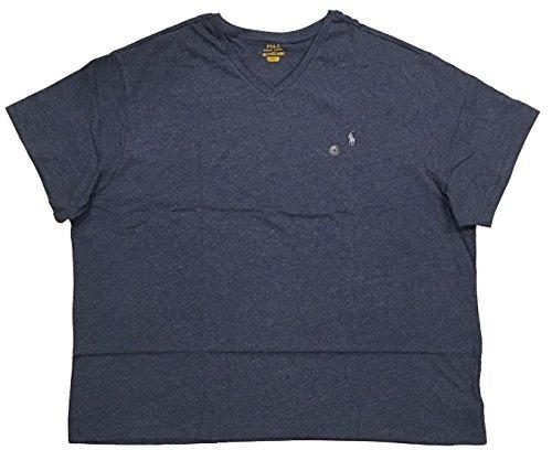 Polo Ralph Lauren Mens Big & Tall Signature Short Sleeves T-Shirt (3X Big, Classic Royal Heather) ()
