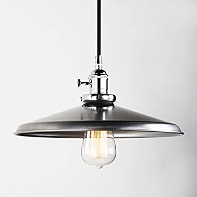 "Pathson Vintage Design Personality Chandelier Creative Dia 11.8"" Interior Light Wrought Iron Bronze Ceiling Lamp Retro Industrial Style Metal Shade Pendant Lights"
