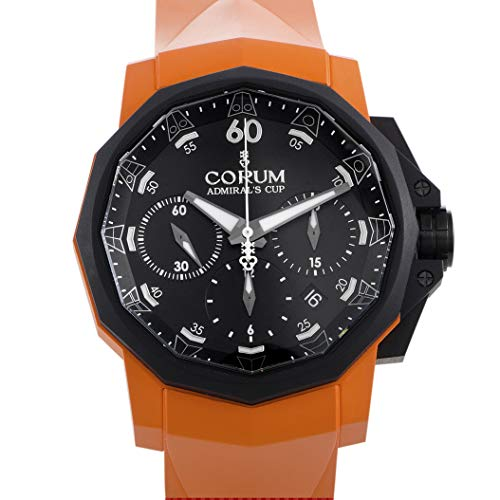 Corum Admiral's Cup Challenger 44 Chrono Men's Orange Rubber Strap Automatic Watch 753.814.02/F374 AN21